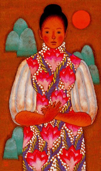 春日女 16.6×10cm 2006年